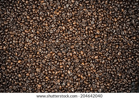 art background of the coffee beans