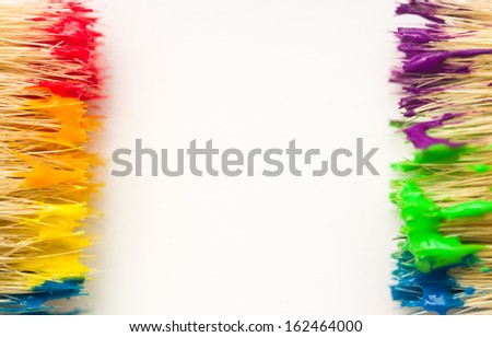 Art background with rainbow paint