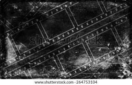 art black and white Grunge Film background texture - stock photo