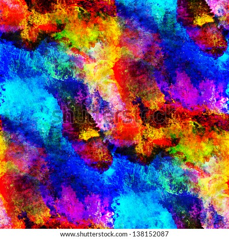 art blue, yellow, red seamless, texture background watercolor abstract brush wallpaper