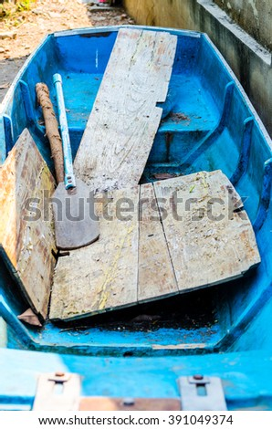 Art Boats Thailand to force people to advance. - stock photo