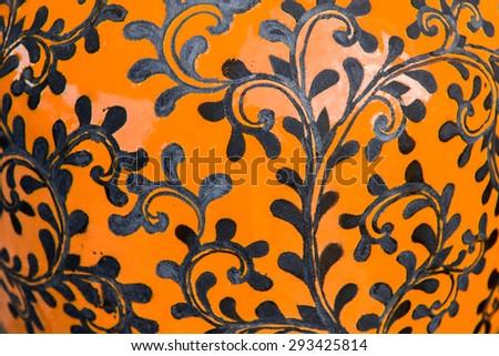Art ceramics background - stock photo