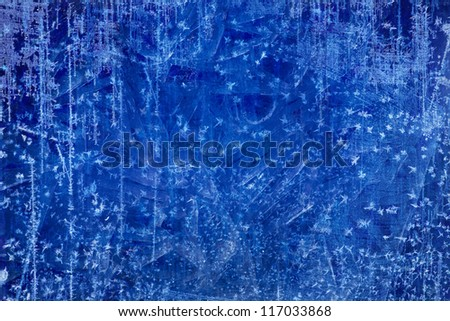 Art Christmas blue Ice texture Winter background - stock photo