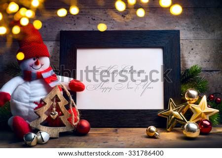 Art Christmas holidays decoration background - stock photo