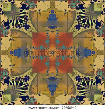 art colorful ornamental vintage pattern - stock photo