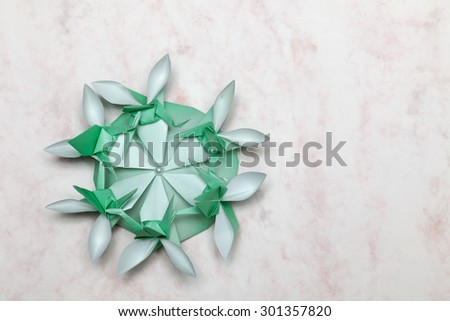 "Art created by a piece of paper ""Origami"" - stock photo"
