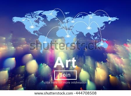 Art Creative Creativity Idea Share Concept - stock photo