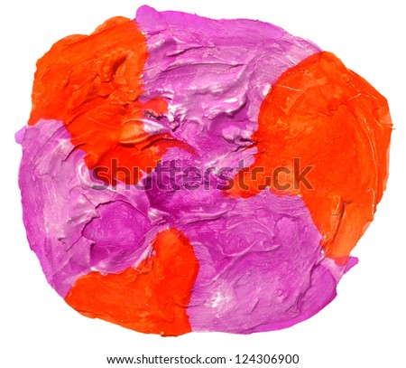 art daub watercolor circle purple orange background abstract paper texture isolated wallpaper