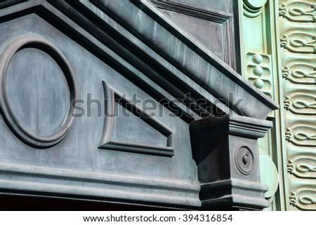 art deco architectural details - stock photo