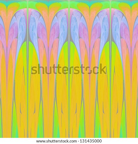 Art Deco pattern with bold colors - stock photo