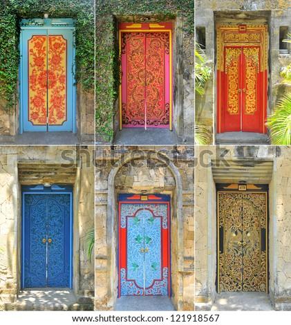 Art door in Bali & Bali Door Stock Images Royalty-Free Images \u0026 Vectors | Shutterstock Pezcame.Com