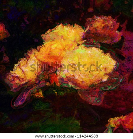art floral colorful pastel background