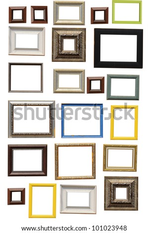 Art frame isolated on white background - stock photo