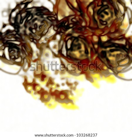art glass floral colorful background