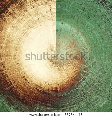Art grunge vintage textured background. With different color patterns: yellow (beige); brown; gray; green - stock photo