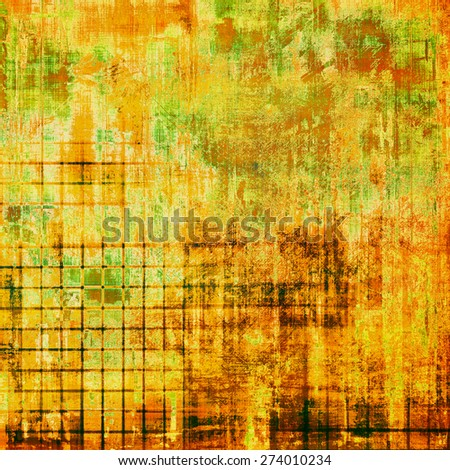 Art grunge vintage textured background. With different color patterns: yellow (beige); brown; green; red (orange) - stock photo