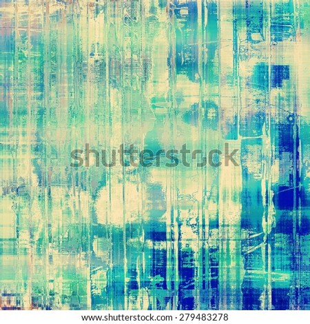 Art grunge vintage textured background. With different color patterns: yellow (beige); green; blue; cyan - stock photo