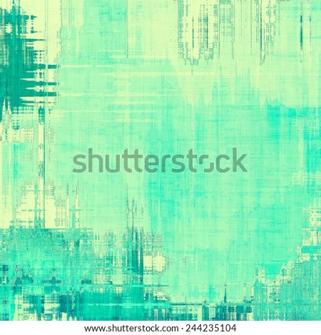 Art grunge vintage textured background. With different color patterns: yellow (beige); green; cyan - stock photo