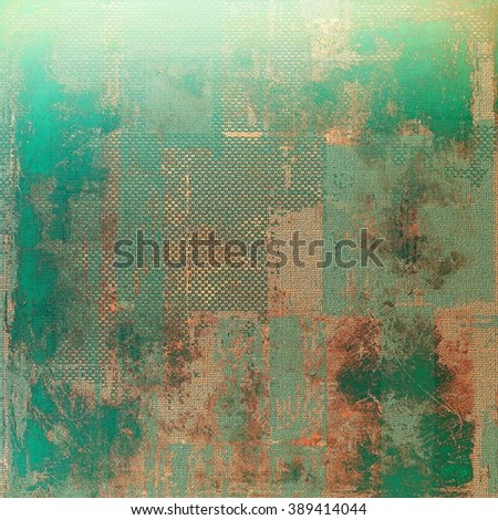 Art grungy texture, background with retro feeling. With different color patterns: yellow (beige); brown; green; blue; gray - stock photo