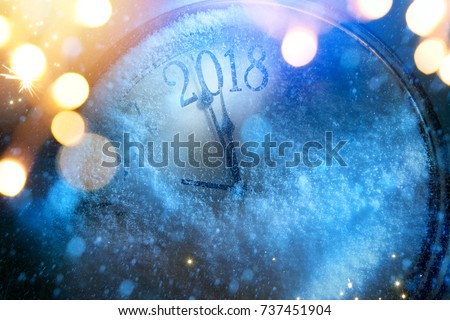 art 2018 happy new years eve background