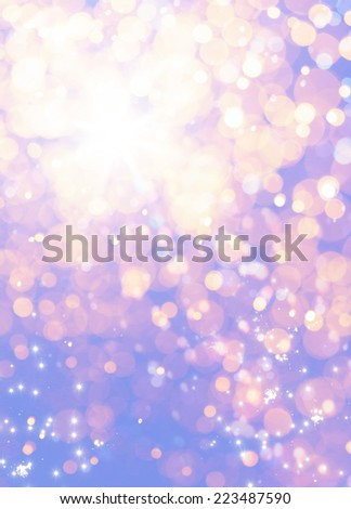 art holiday Christmas Background. Golden Holiday Abstract Glitter Background With Blinking Stars. Blurred Bokeh  - stock photo