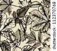 art leaves autumn background card - stock photo