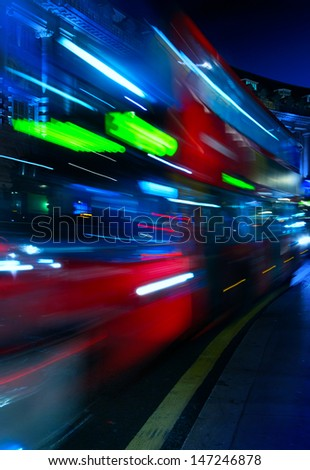 Art London night city traffic
