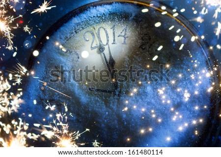 Art magic Christmas and New year eve 2014  - stock photo