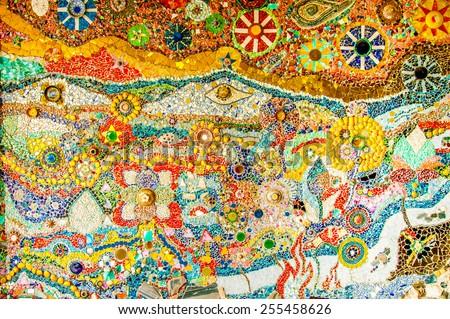 Art Mosaic Glass On Wall Stock Photo 255458626 - Shutterstock