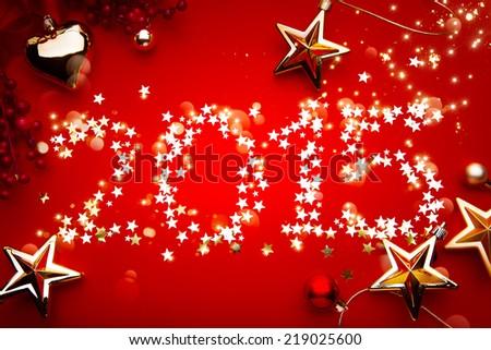 art 2015 New Year's Eve; Holidays background - stock photo