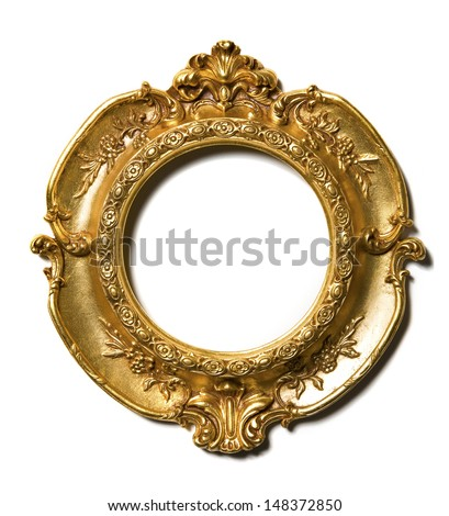 Art Nouveau gold vintage Picture Frame - stock photo