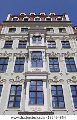 Art Nouveau townhouse - stock photo