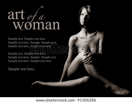 Art of a Woman with Text Space to the Left