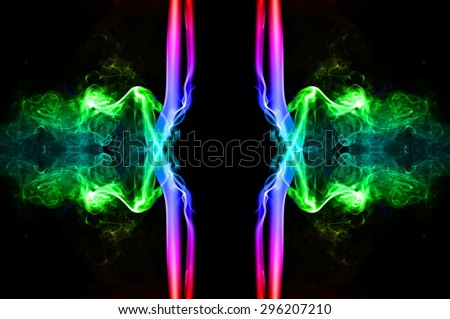 art of color smoke on black background, colorful smoke on black  background, smoke background,colorful ink background,rainbow background ,beautiful color smoke