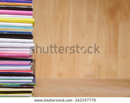 art of colorful book in library , Bookshelf