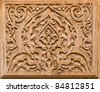 art of wood carving. Details threads. - stock photo
