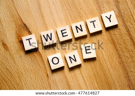 art of wooden block/ twenty one birthday