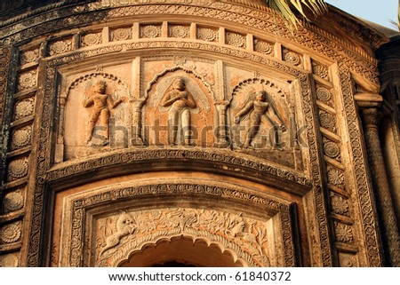 Art on temple, India
