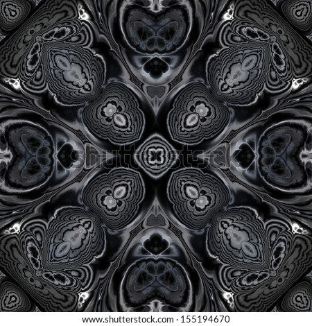 art ornamental vintage pattern, monochrome background in white, dark grey and black colors