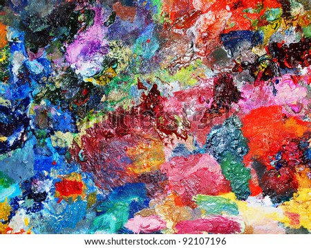 art palette background - stock photo