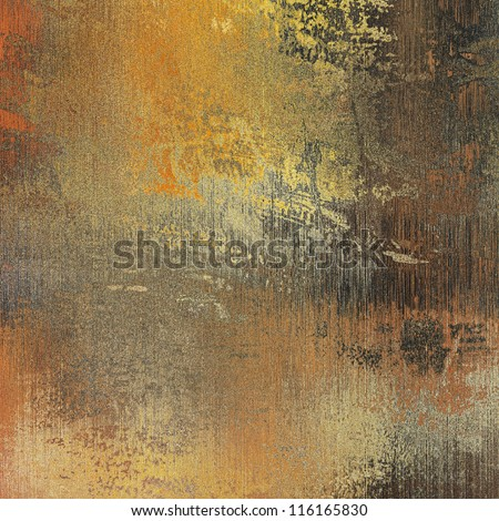 art paper texture with dust for background in gold, beige, orange, grey,  black and brown colors - stock photo