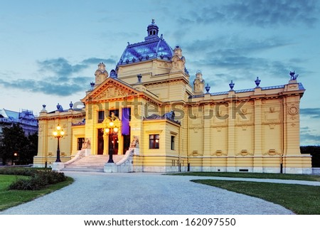art pavillion in Zagreb. Croatia - stock photo