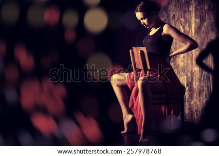 Art portrait of a beautiful Spanish girl. Latin dances. - stock photo