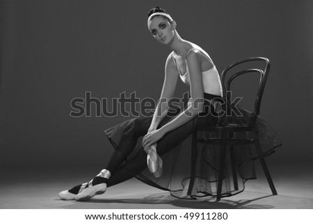 Art portrait of the artist - stock photo