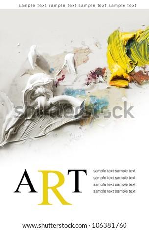 art poster background - stock photo