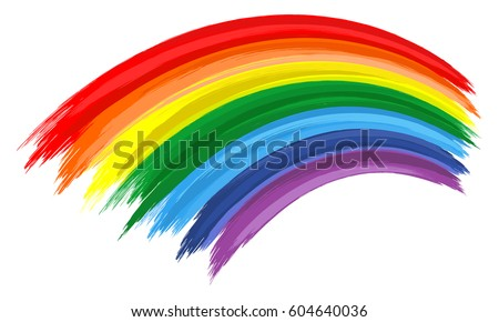 art rainbow color brush stroke painting background - Rainbow Color