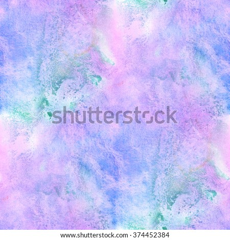 art seamless  blue purple watercolor pattern background abstract texture, water paper design wallpaper  - stock photo