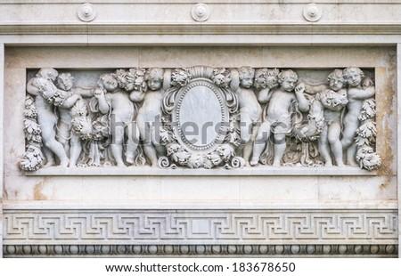 Art structure around The Ananta Samakhom Throne Hall, Dusit Palace, Bangkok, Thailand - stock photo