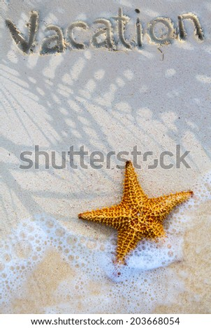 Art summer vacation background - stock photo