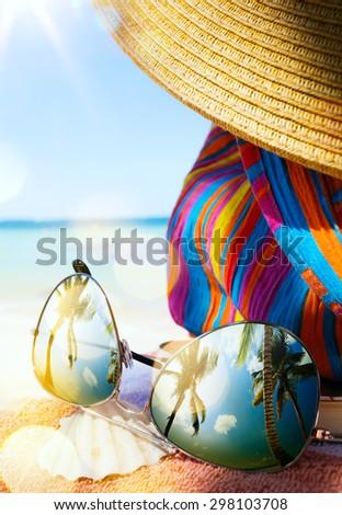 art tropical beach  - stock photo